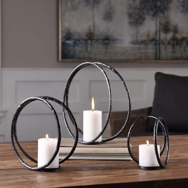 """Žvakidė """"Rings"""""""
