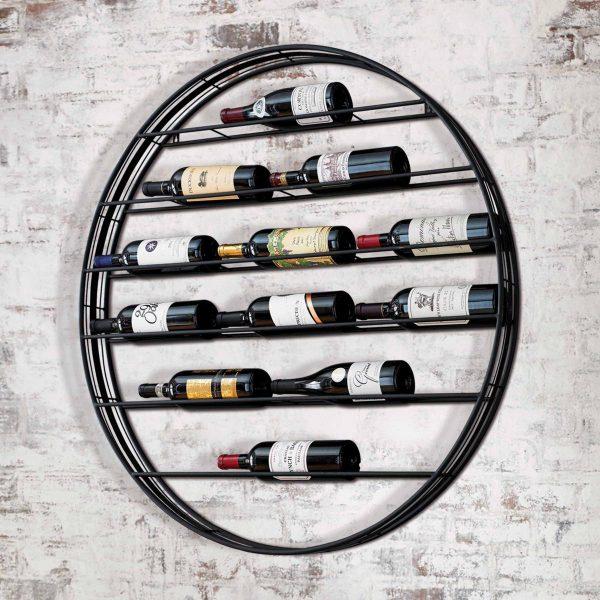 "Wine bottle holder ""Saturn"""
