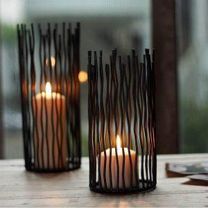 "Metal candlestick ""Wave"""